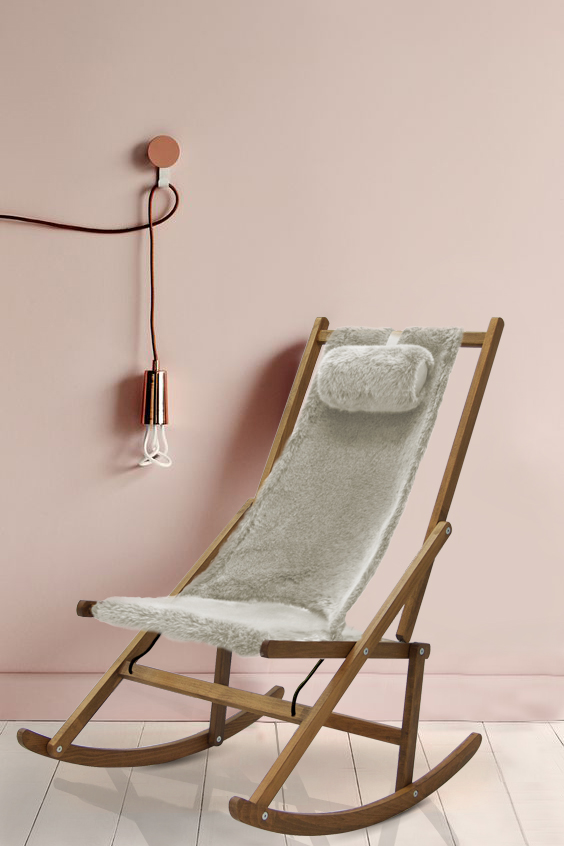 Winter Rocking Chair Fur Modern