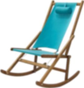 Folding Rocking Deck Chair, Outdoor Furniture by WAWA