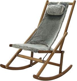 Folding Rocking Deck Chair, Cosy Faux Fur collection by WAWA