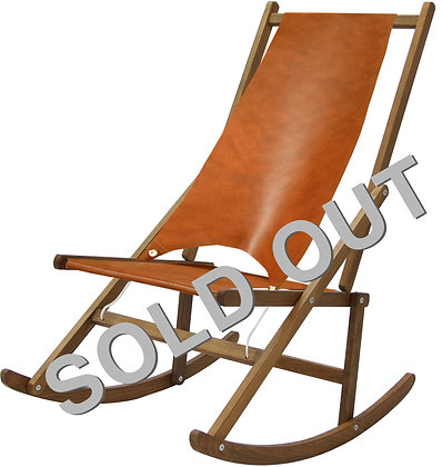 Folding Rocking Deck Chair, Limited Edition Leather By WAWA