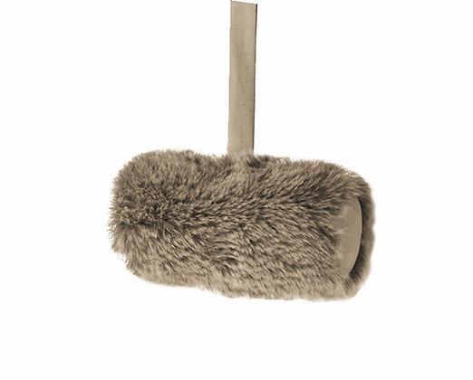 Winter Long Faux Fur Cushion - Sable