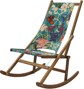 Limited edition folding rocking deck chair designed by WAWA