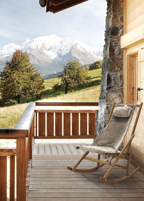 Winter Rocking Chair Fur Alpes