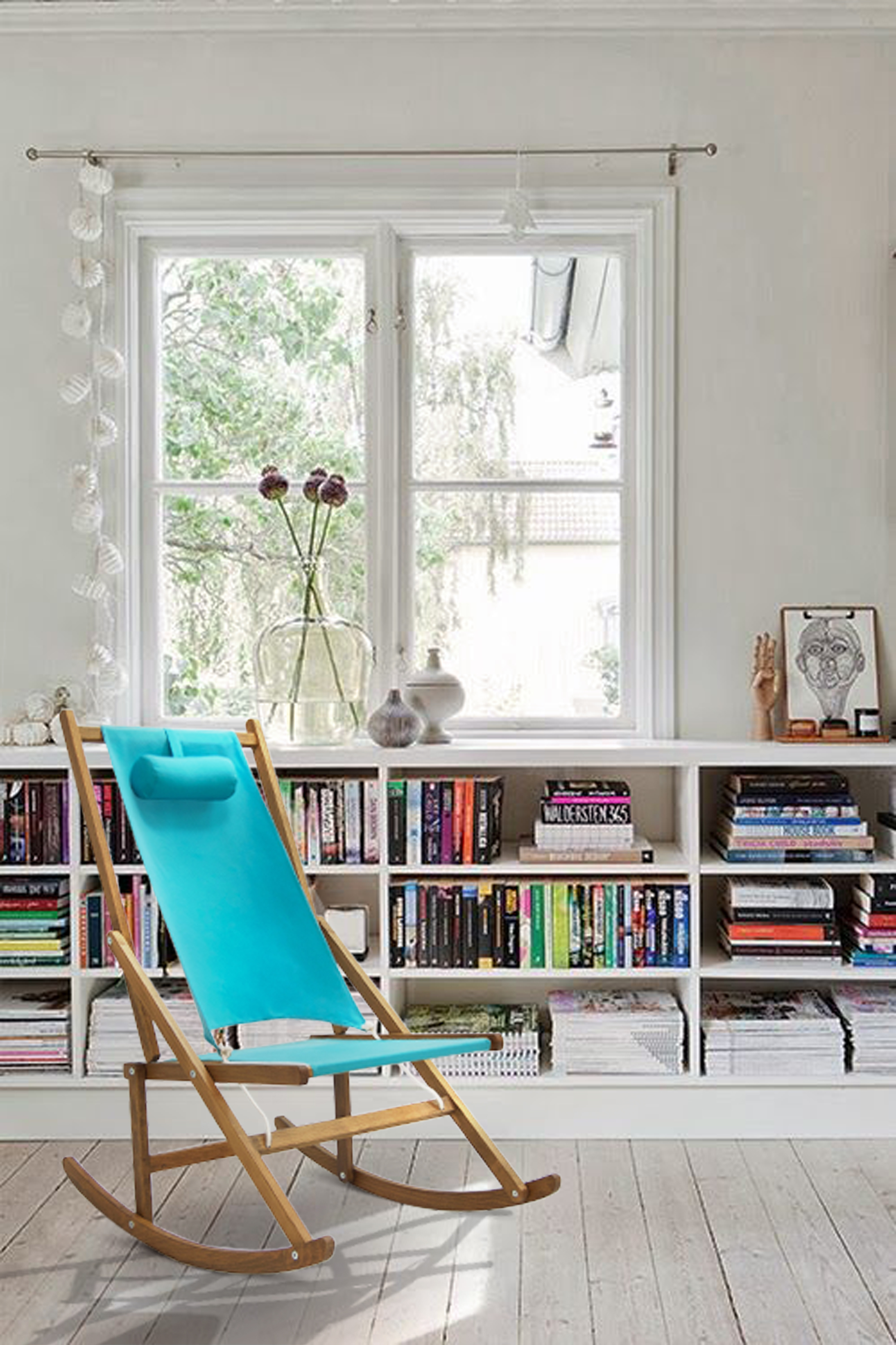 Reading nook done with rocking chair