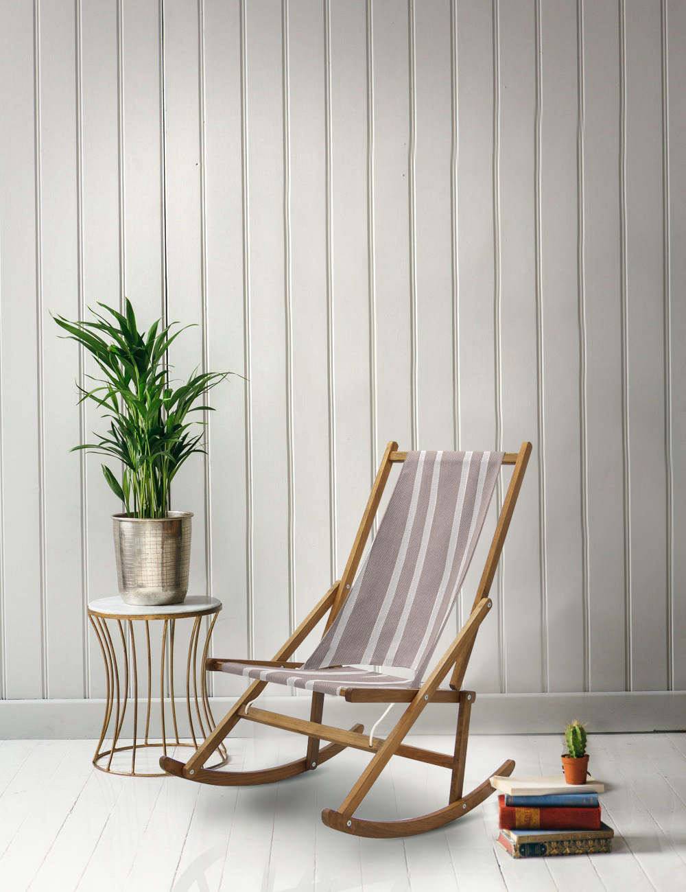 Caribbean Stripe Rocking Chair