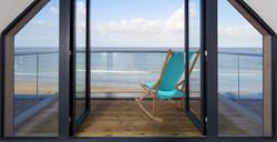 Bright Folding Rocking Chair Balcony