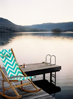 Bright Folding Rocking Chair By Lake