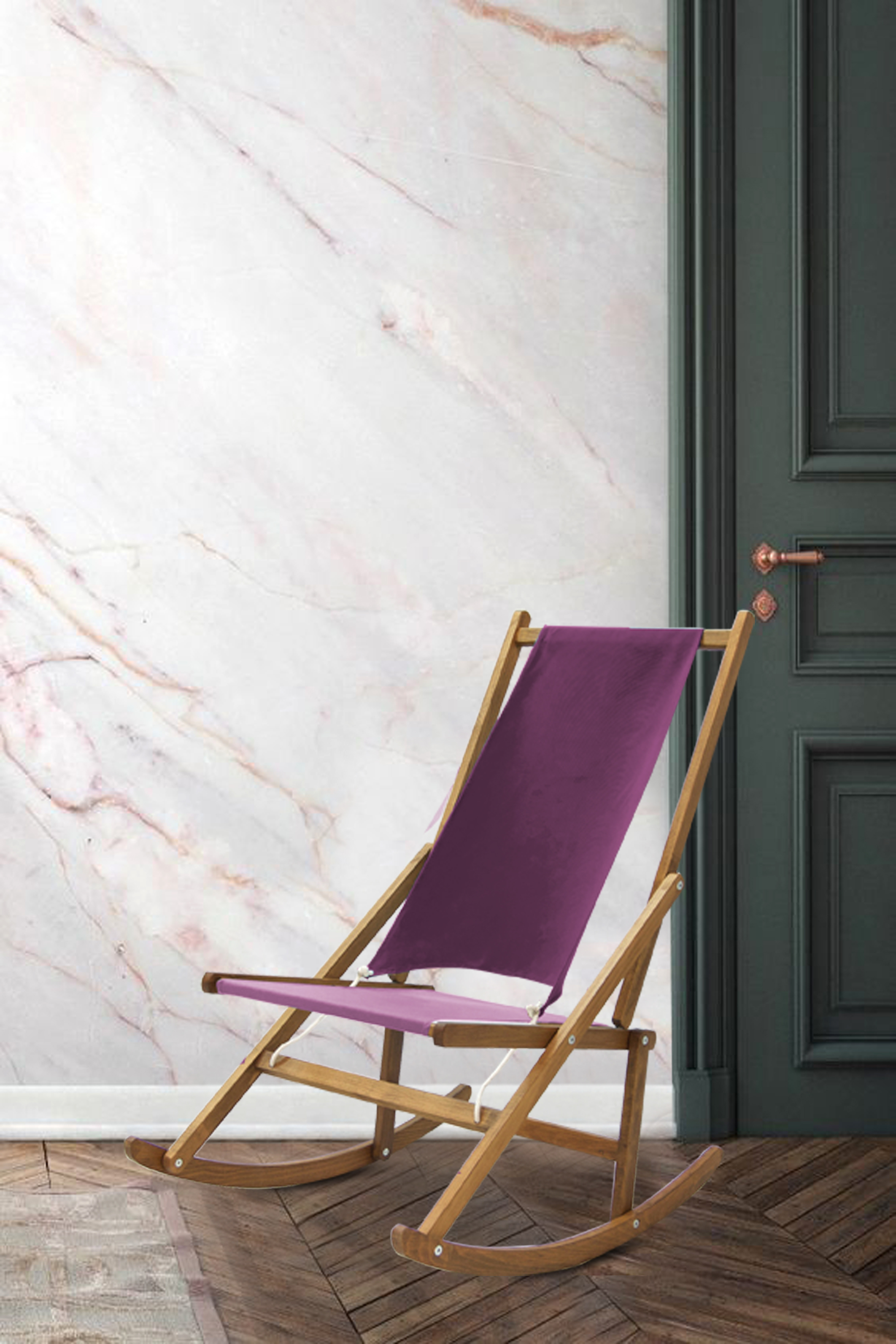 Modern Folding Rocking Chair Marble