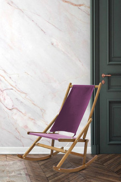 Modern Folding Rocking Chair Marble