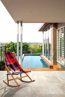 Folding Rocking Chair by the pool