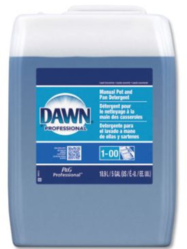 Dawn Manual Pot/Pan Dish Detergent, Original Scent, 5 Gallon Cube