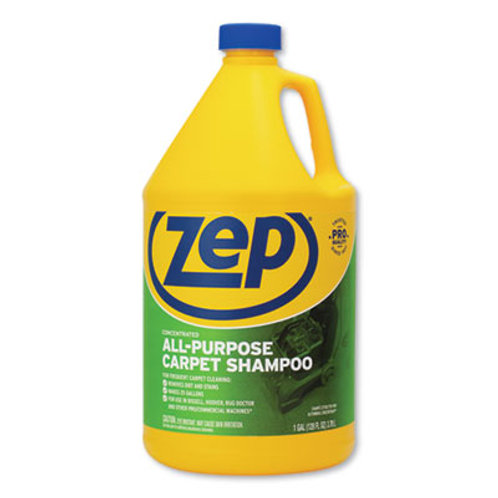 Zep Commercial® Concentrated All-Purpose Carpet Shampoo, Unscented, 1 gal, 4/Ct