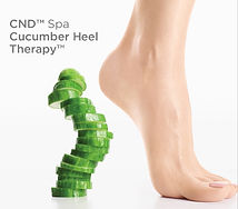 CND Spa Cucumber Heel Therapy Natural pedicure