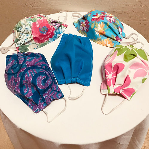 Fabric Face Coverings (assorted colors)