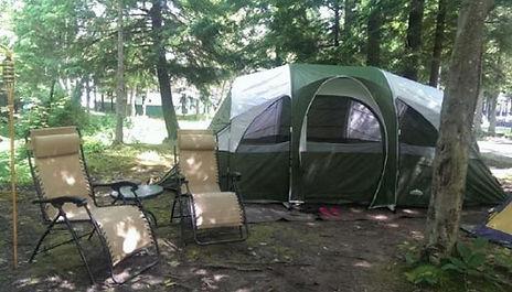 A tent in a camp site