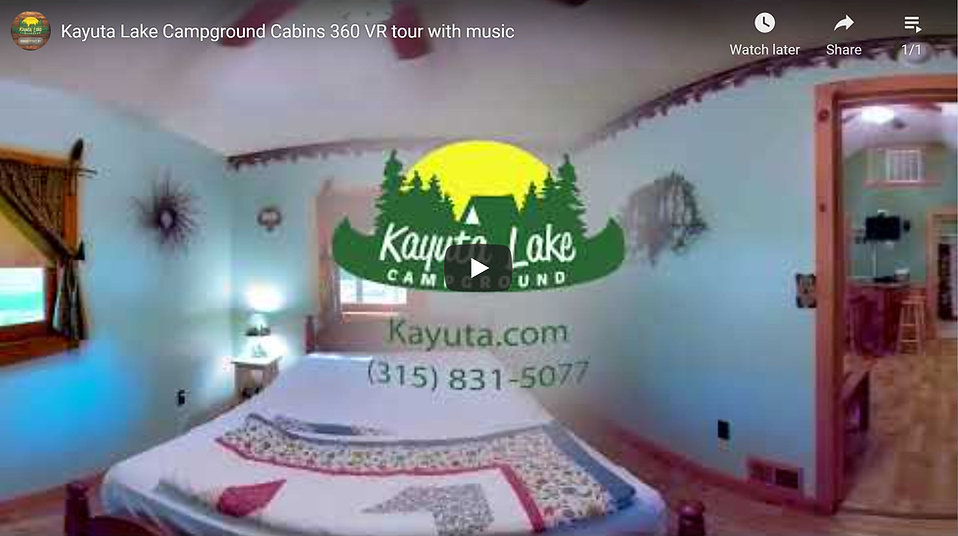 This video shows scenes of inside of The Bear Cave Cabin where the user can manually change the view.