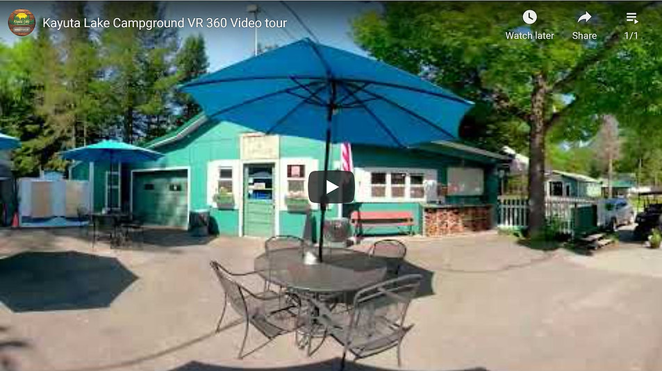 This video shows scenes of the campground where the user can manually change the view