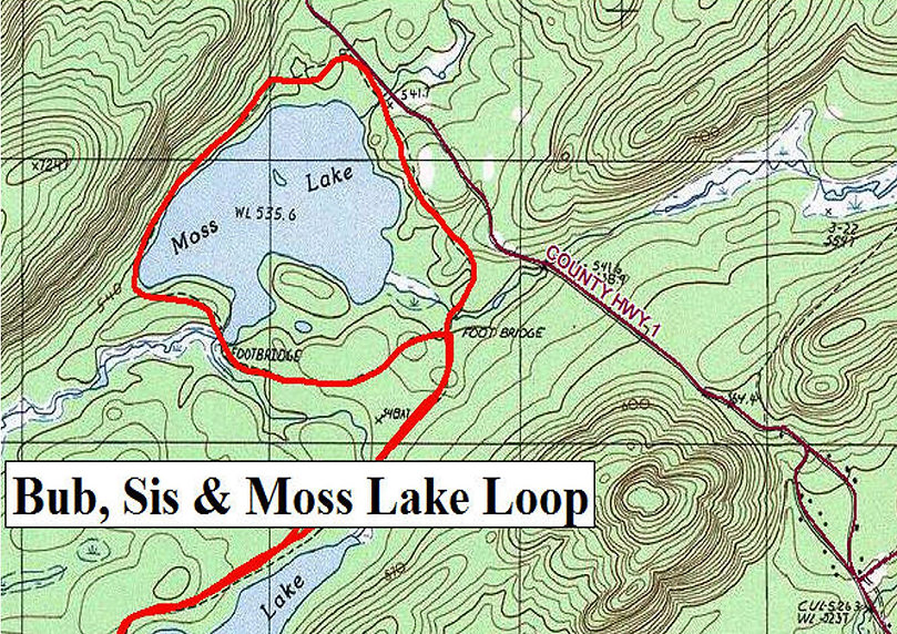 Bubb, Sis & Moss Lake Loop & Vista Trail