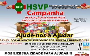 CAMPANHA DE DOAÇÃO DE ALIMENTOS E PRODUTOS DE LIMPEZA E HIGIENE