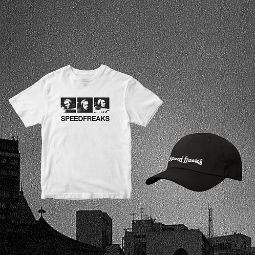 """Kit Camisa """"Faces"""" + Boné """"Speed Freaks"""""""