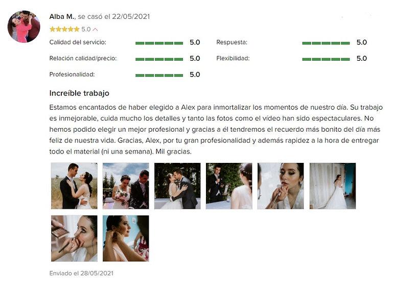 opiniones alex diaz films opiniones 2021 video fotografia de bodas