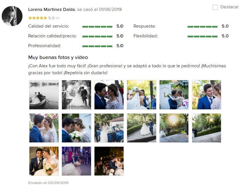 reseñas alex diaz films bodas