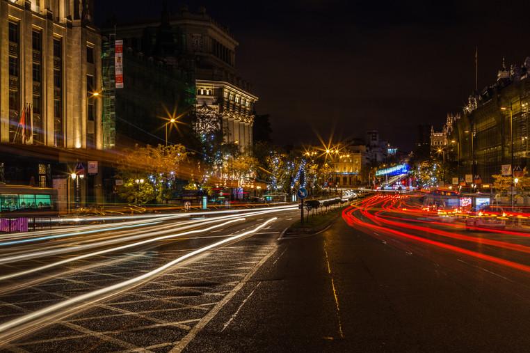 Fotografía de Madrid, noche