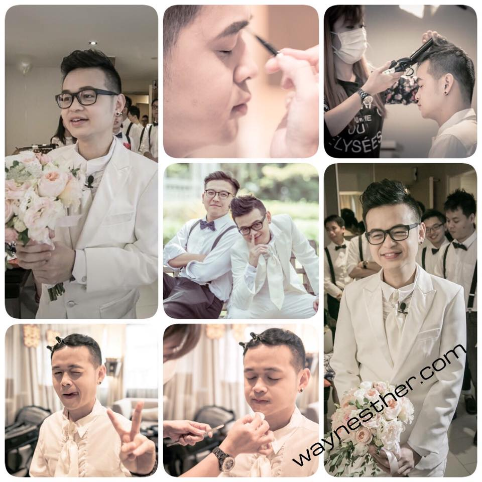 Groom makeup & hairdo