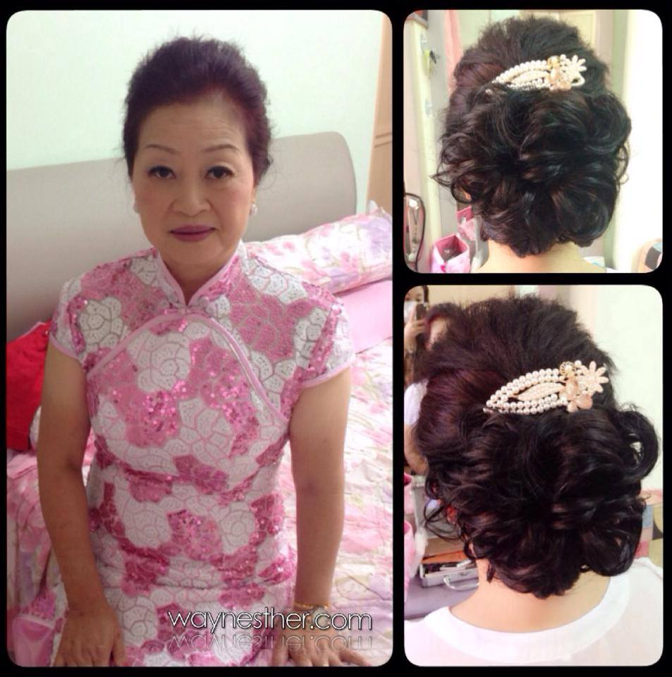 Mother makeup & hairdo