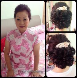 Mother makeup & hairdo