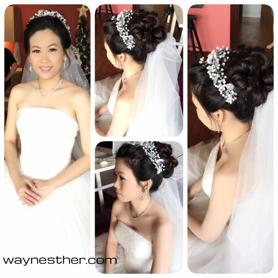 Bridal makeup & hairstyling