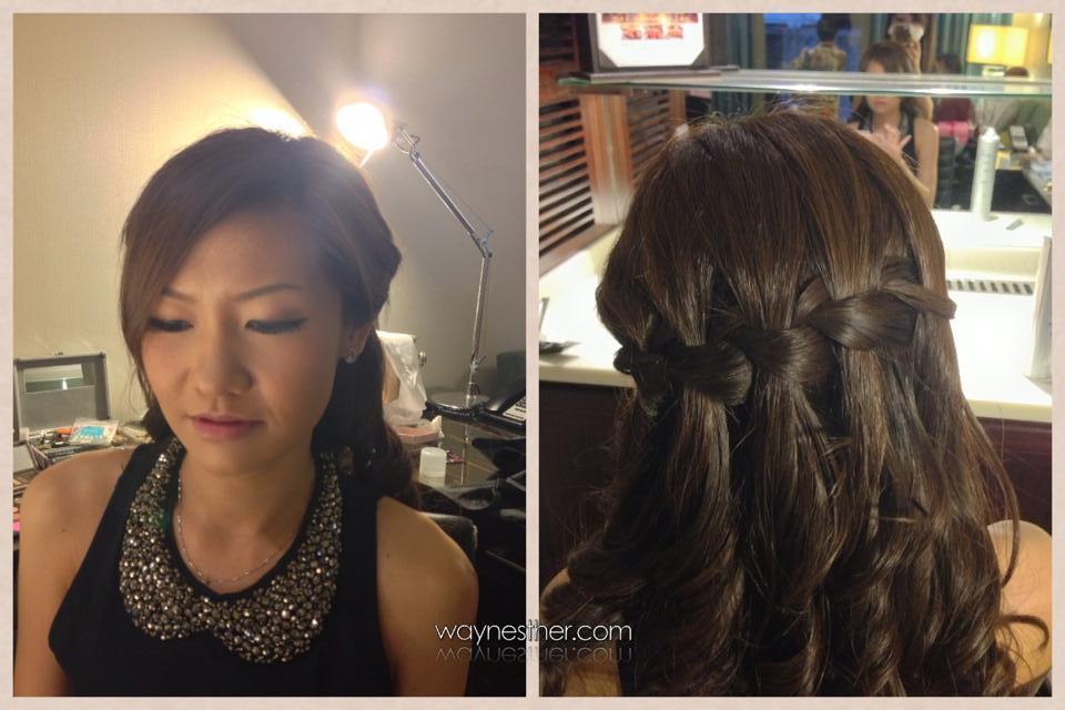 Dinner makeup & hairdo