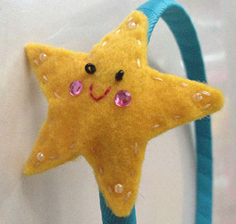 YELLOW STAR HEADBAND