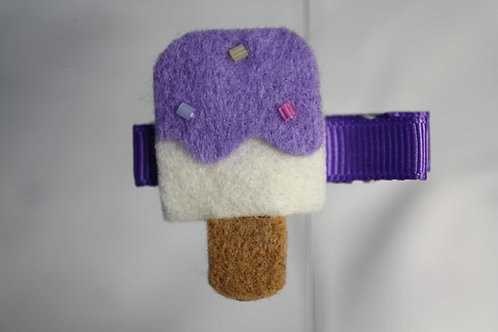 PURPLE ICE CREAM HAIR CLIP