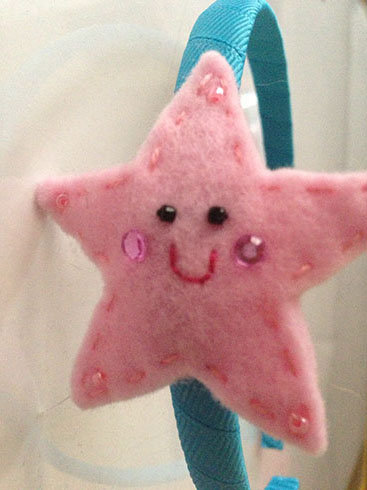 PINK STAR HEADBAND
