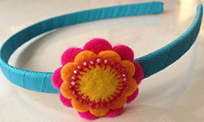 STUDDED SUNFLOWER HEADBAND