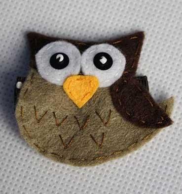 PROFILE BROWN OWL HAIR CLIP