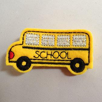 YELLOW SCHOOL BUS HAIR CLIP