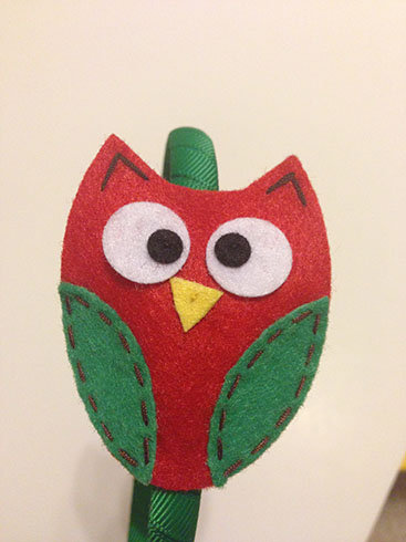 QUIRKY CHRISTMAS OWL HEADBAND