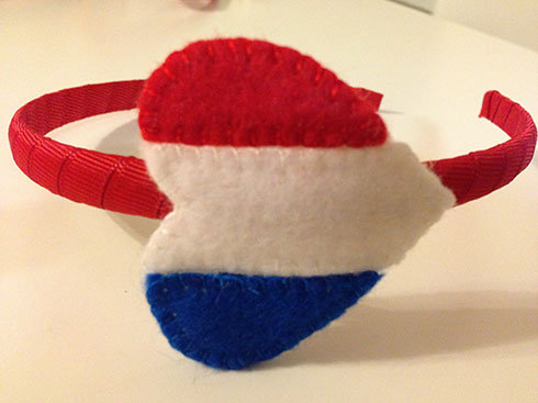 FRENCH FLAG HEART HEADBAND