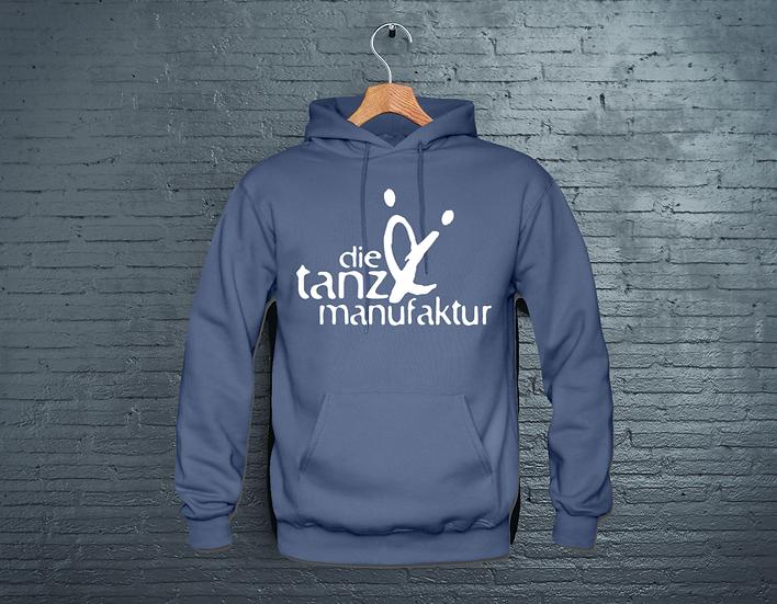 logo hoodie blau