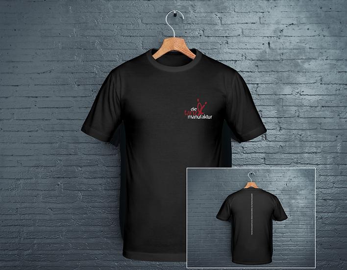 t-shirt schwarz mit schrift