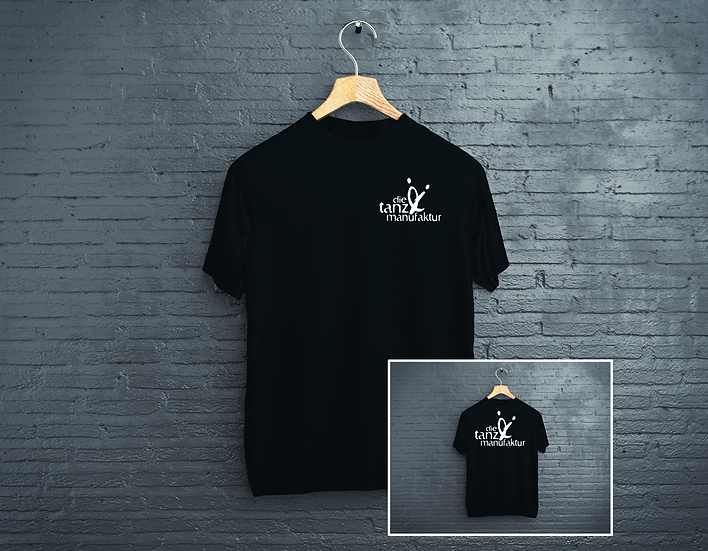 double logo t-shirt schwarz