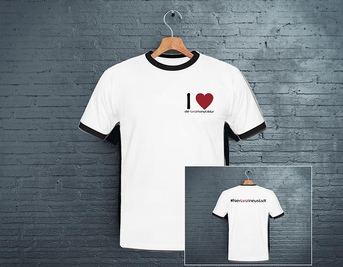 t-shirt i love die tanzmanufaktur