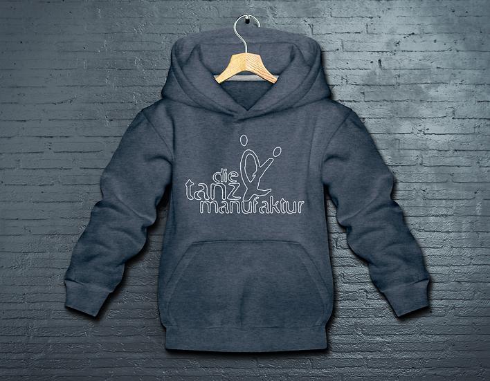 minimal logo kids hoodie jeans-blue
