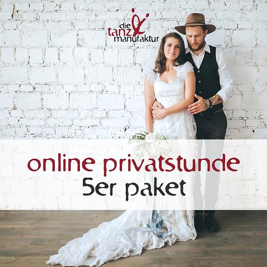 online privatstunde 5er paket