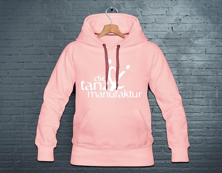 logo hoodie rosa