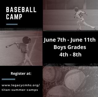 Titan Baseball Camp