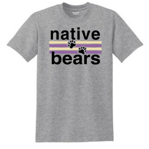 Native Bears Tshirt Grey and White