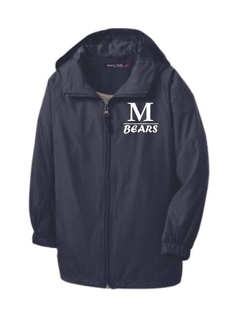 Men's Grey Hooded, Lined Jacket
